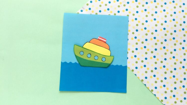 Fun Paper Ship Craft for Kids