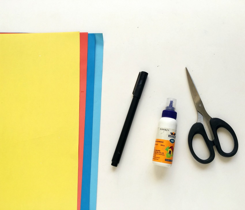 Paper Ship Craft supplies needed