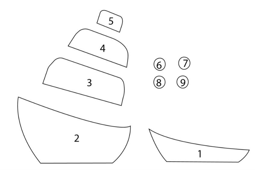 Paper Ship Craft template