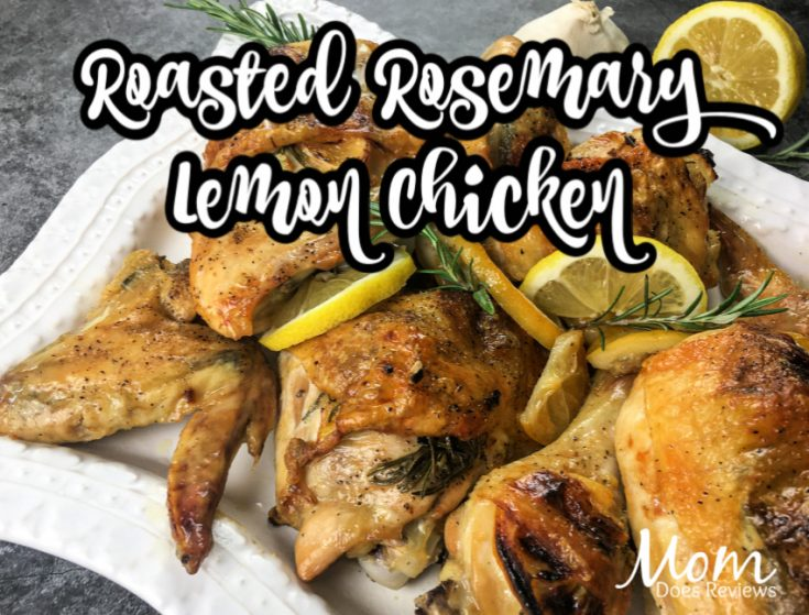 Roasted Rosemary Lemon Chicken- Easy Sheet Pan Meal! #recipe #sheetpanmeal #chicken