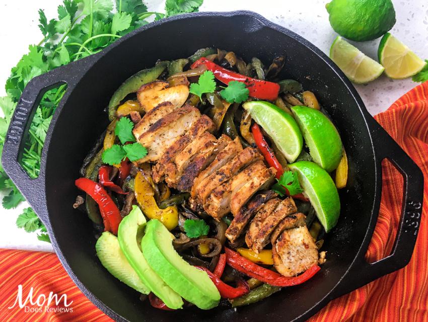 Sizzling Chicken Fajitas- Fun Cast Iron Skillet Meal