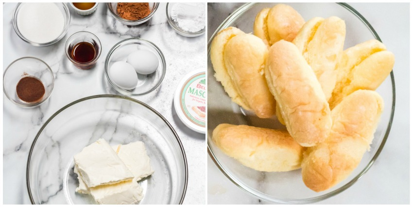 Tiramisu Instant Pot Cheesecake ingredients