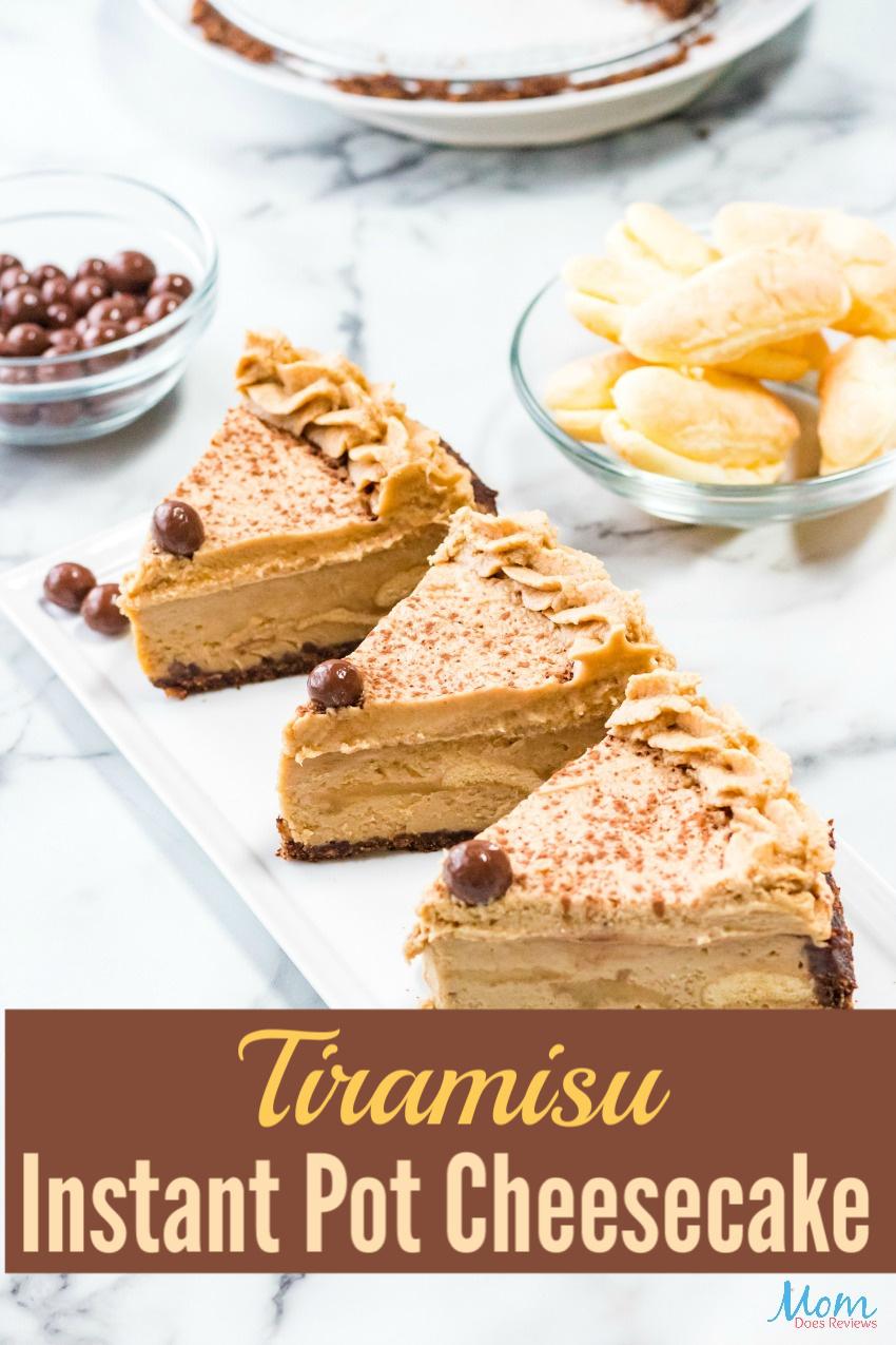 Tiramisu Instant Pot Cheesecake #Recipe #dessert #instantpot #cheesecake