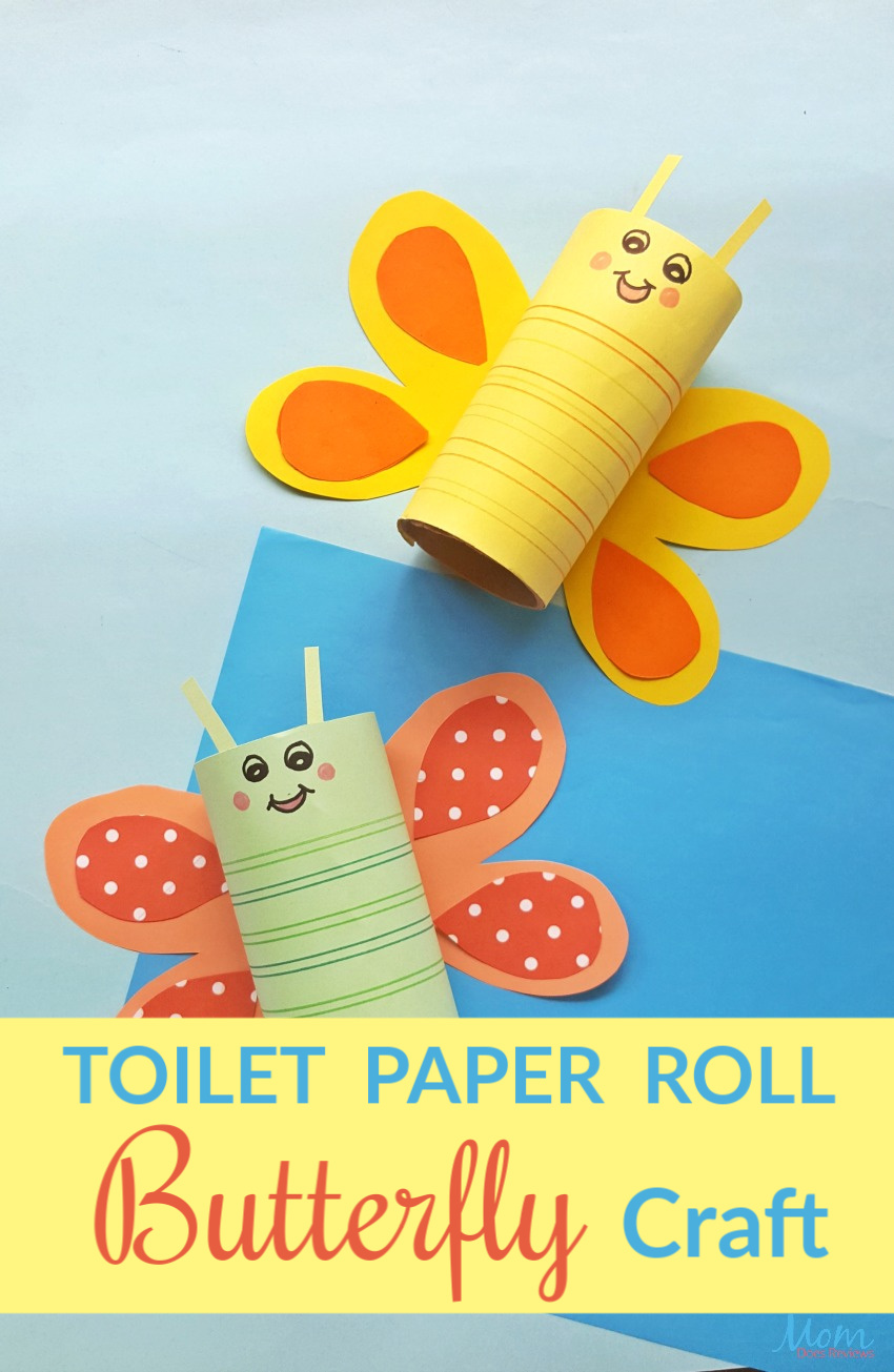 Cute & Easy Toilet Paper Roll Butterfly Craft #funstuff #togetherathome #easycraft