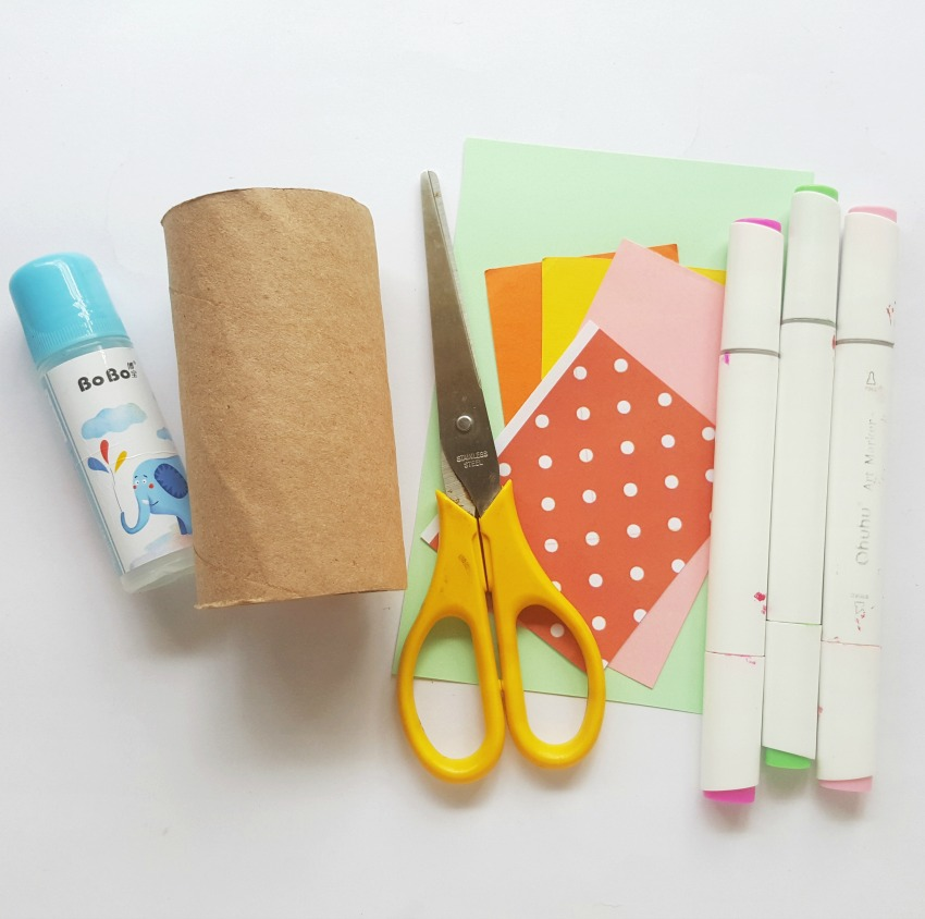 Toilet Paper Roll Butterfly Craft supplies needed