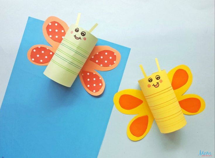 Cute & Easy Toilet Paper Roll Butterfly Craft