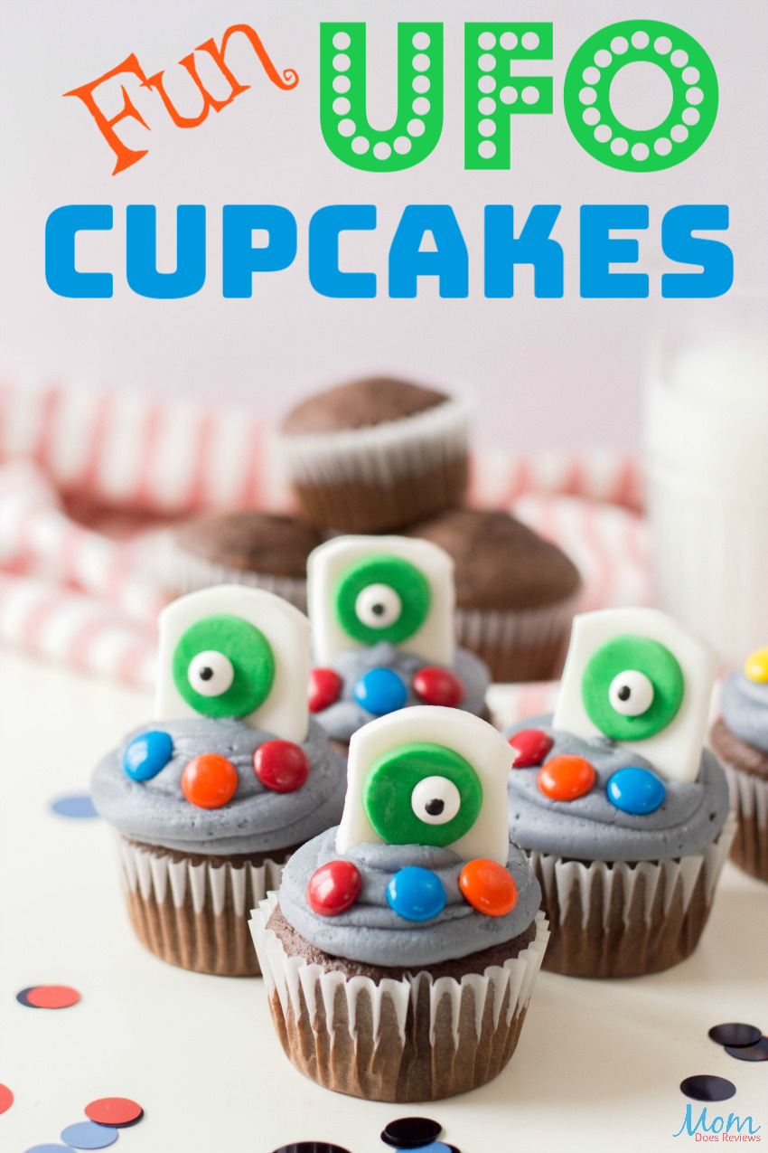 Fun UFO Cupcake Recipe the Kids will Love! #cupcakes #funfood #recipe