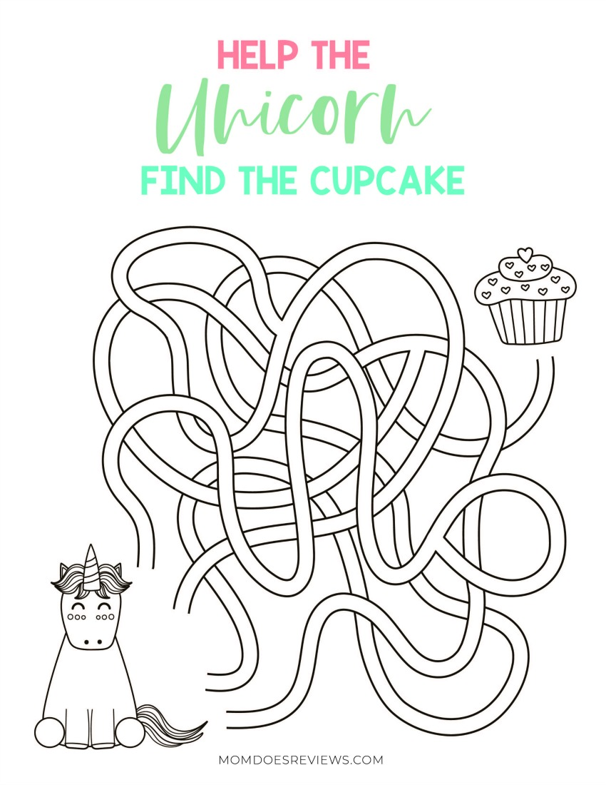 Super Cute Printable Unicorn Activities Pack to Help Beat the Stay at Home Blues!
