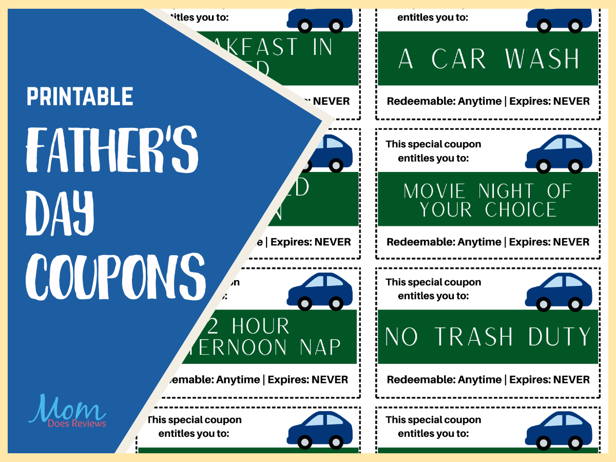 Printable Father's Day Coupons! #Fathersday #printables #funstuff