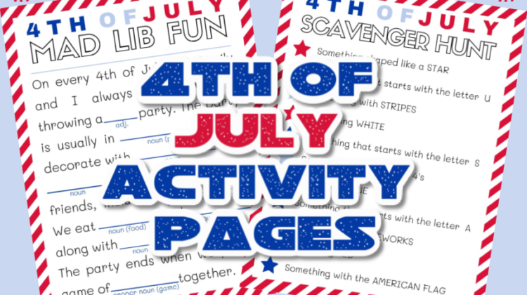Free Forth of July Activity Pack! #printables #activitypages #4thofjuly
