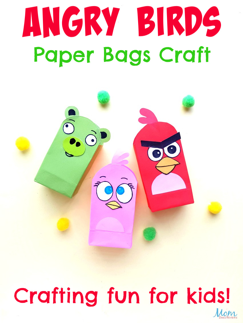 Angry Birds Paper Bags Craft for Kids #crafts #funstuff #angrybirds