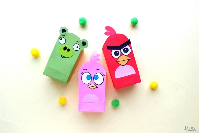 Angry Birds Paper Bags Craft for Kids