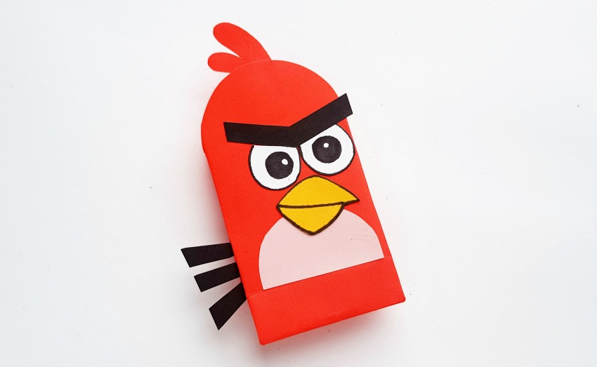 Angry Birds Paper Bags Craft process