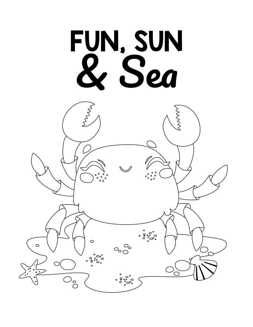 Beach Activities - Fun, Sun, and Sea #freeprintables #activitypages #boredombuster #summerfun
