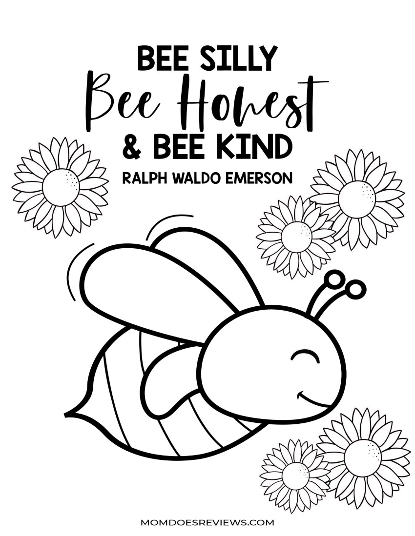 Busy Busy Activity Pack - Stay at Home Activities - Bee Silly, Bee Honest, and Bee Kind