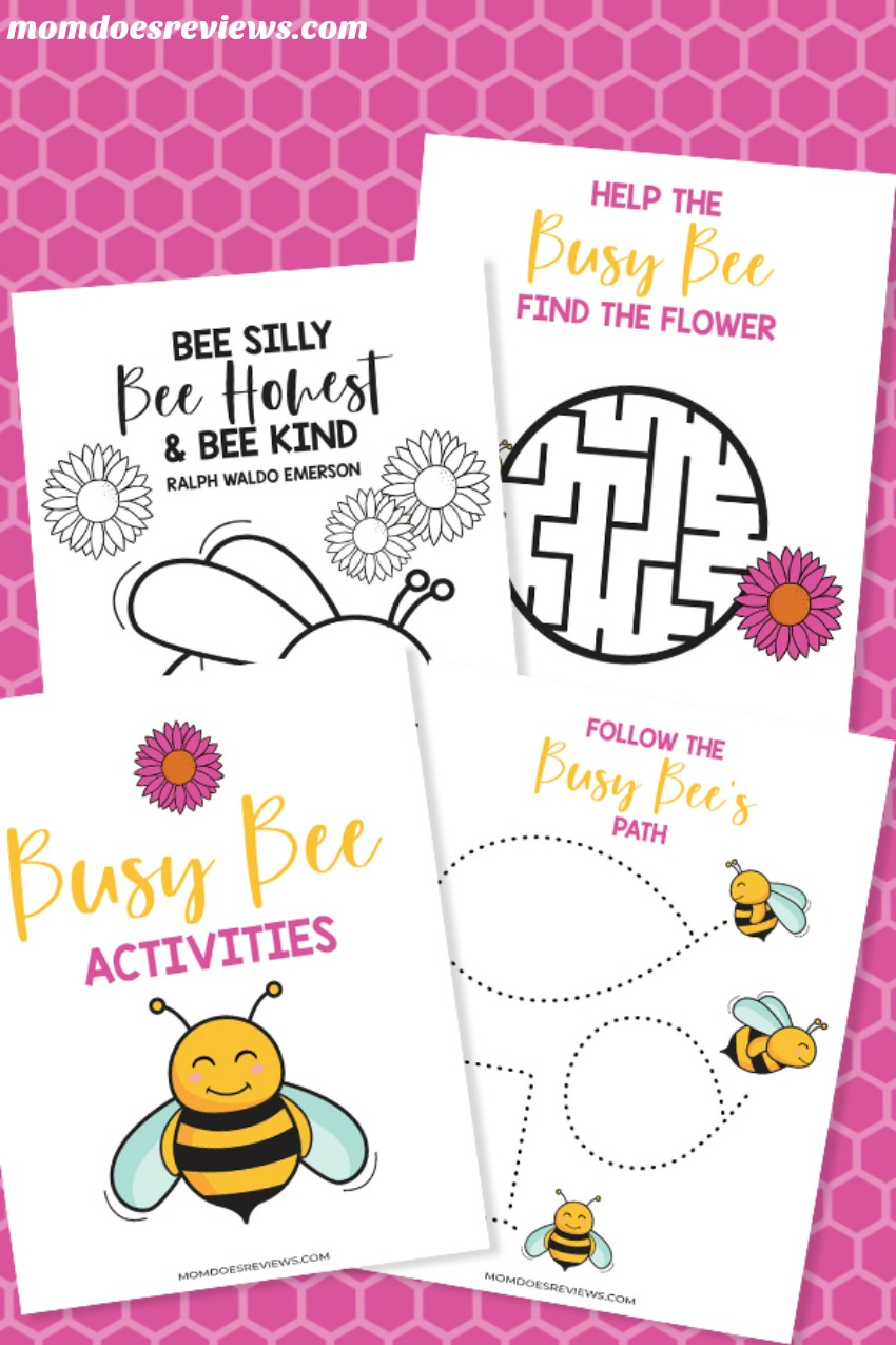 Free #Printable Busy Bee Stay-at-Home Activity Pack #togetherathome #funstuff #freeprintables