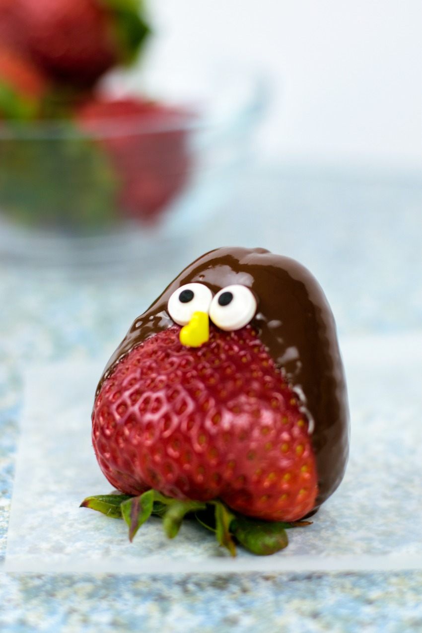 Fun & Yummy Chocolate Strawberry Birds How-to! #funfood #strawberries