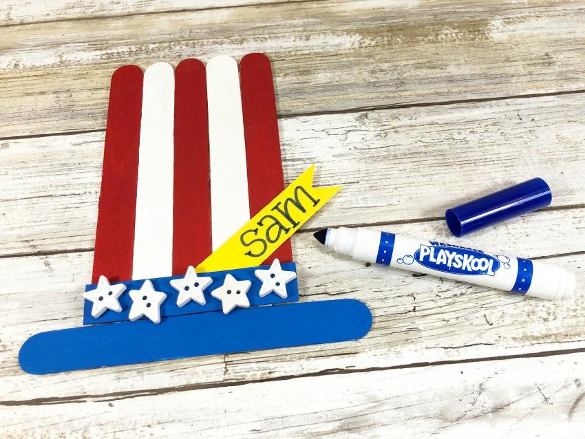 Craft Stick Patriotic Hat Craft