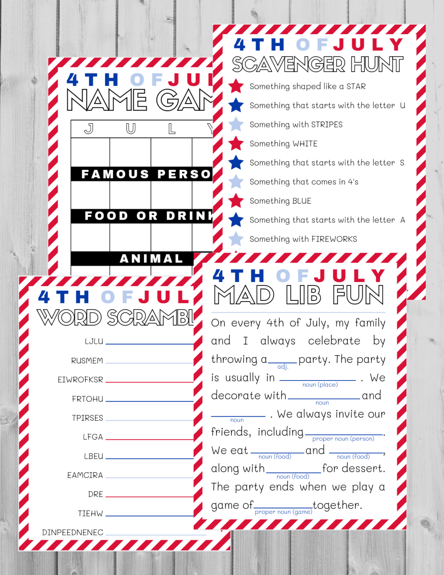 Free Forth of July Activity Pack!
