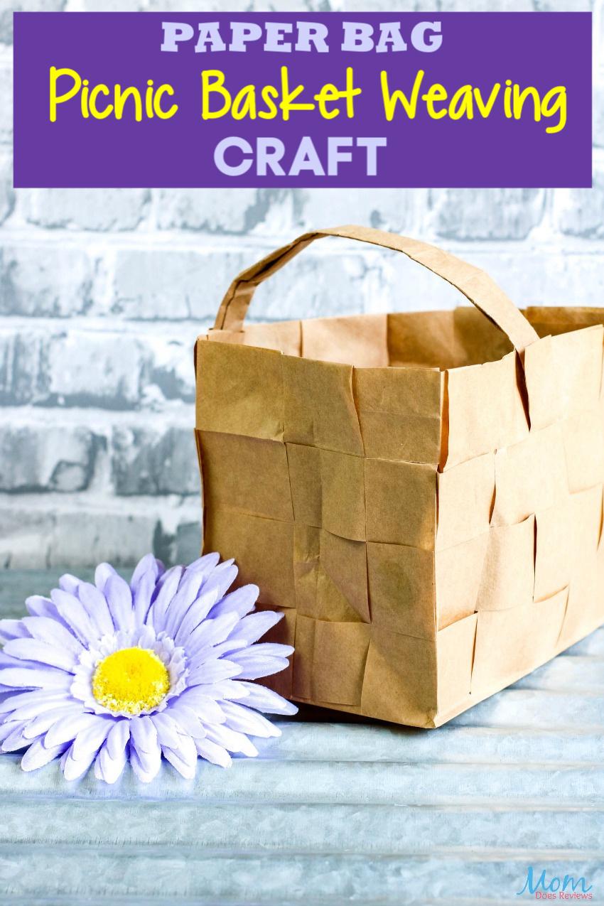 Paper Bag Picnic Basket Weaving #Craft #DIY #funstuff