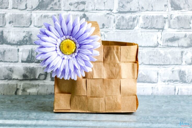 Paper Bag Picnic Basket Weaving Craft