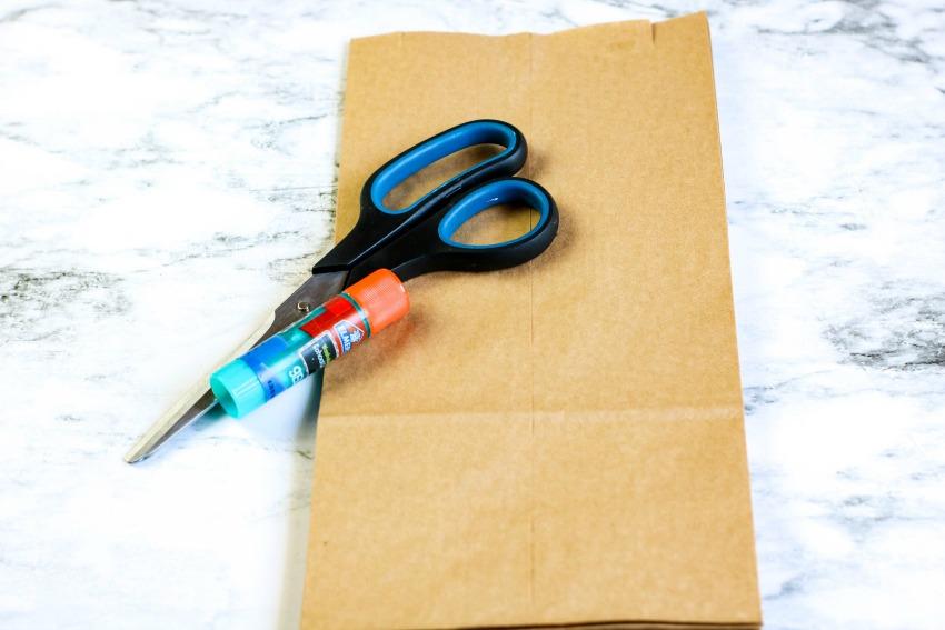 Paper Bag Picnic Basket Weaving Craft supplies needed