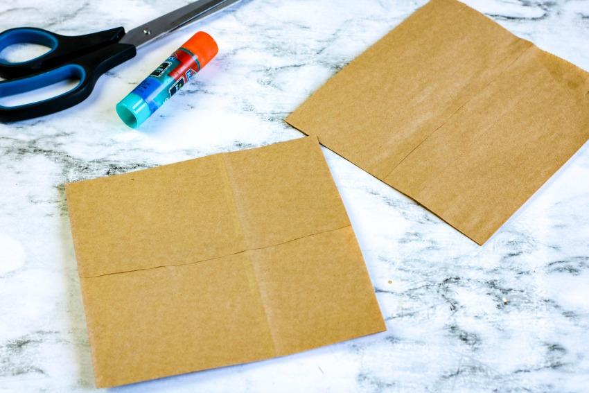 Paper Bag Picnic Basket Weaving Craft process