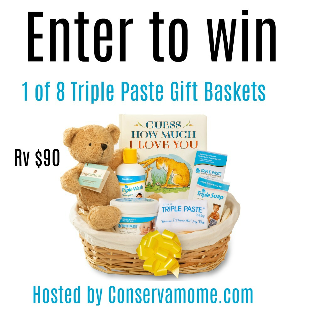 8 #Winners- Triple Paste Baby Gift Baskets! ($90 arv), US, ends 7/2