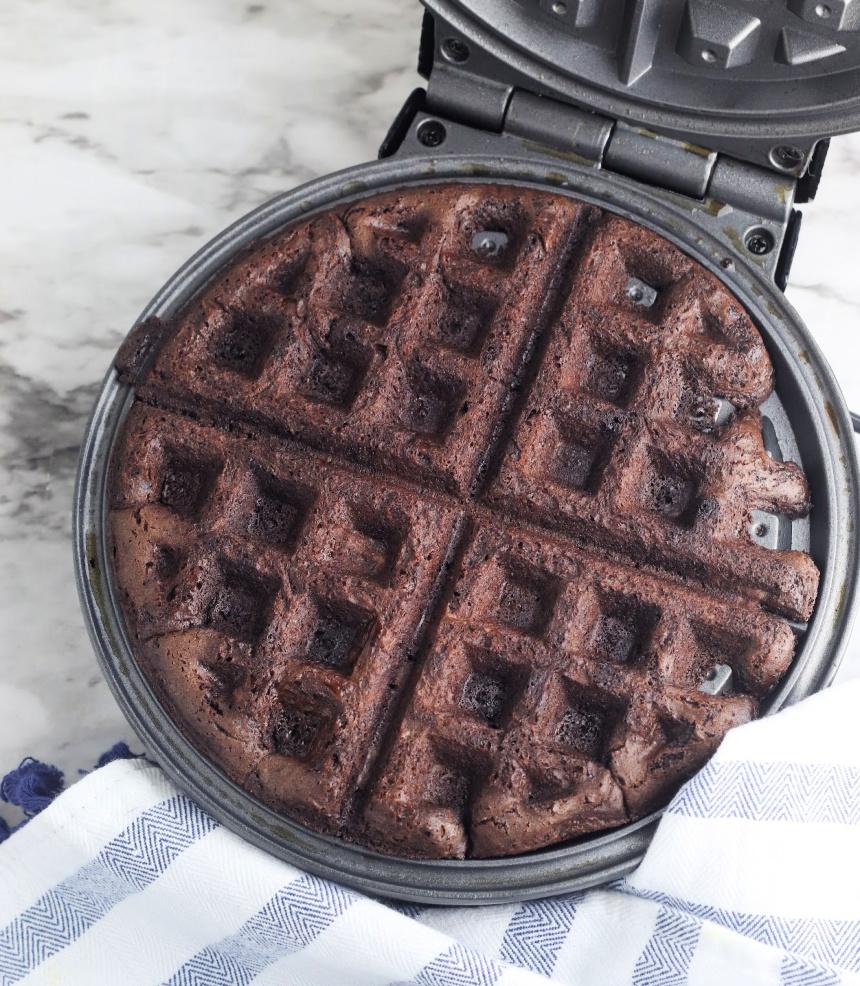 Easy Brownie Waffle Ice Cream Sandwiches