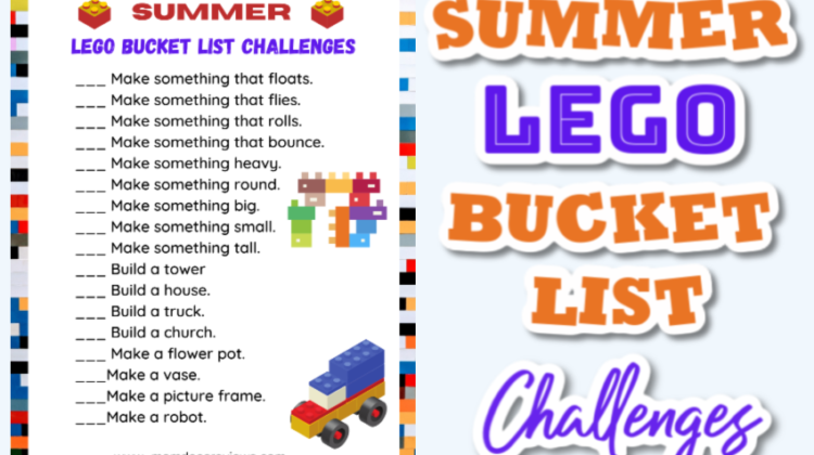 Summer LEGO Bucket List Challenge #Summerfun #printable #LEGOS