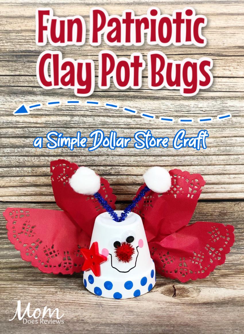 Fun Patriotic Clay Pot Bugs