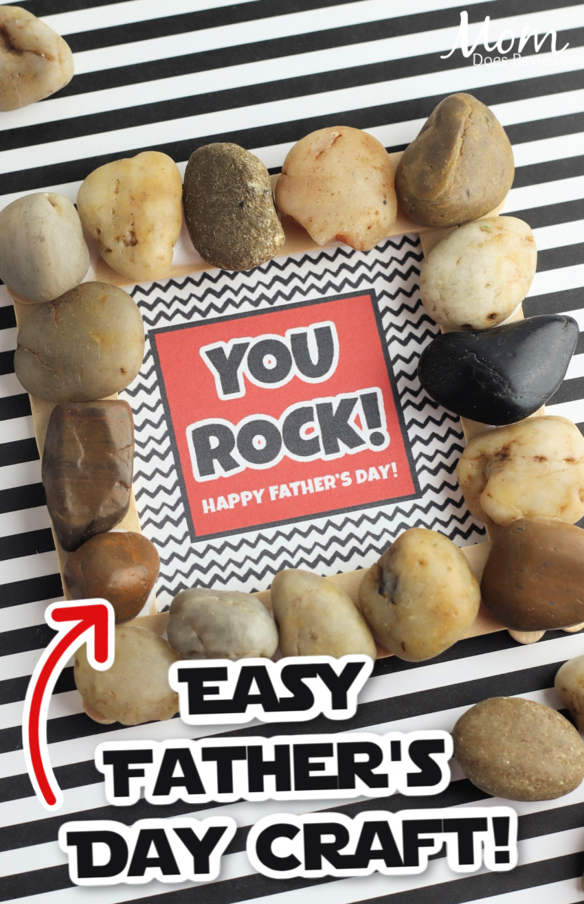 """Make Your Own """"You Rock"""" Father's Day Gift Frame"""