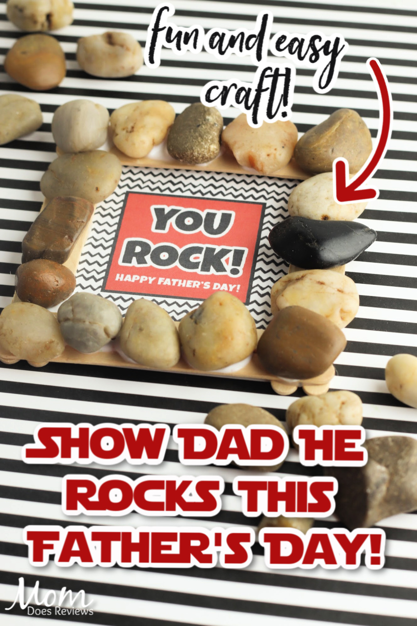 """Make Your Own """"You Rock"""" Father's Day Gift Frame #DIY #craft #Fathersday"""