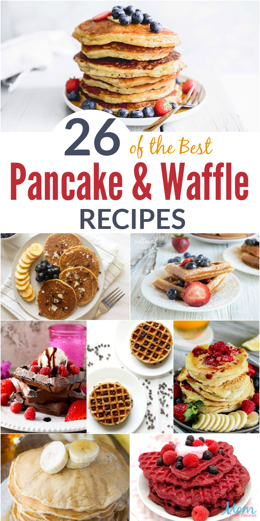26 of the Best Pancake & Waffle #Recipes #breakfast #foodie