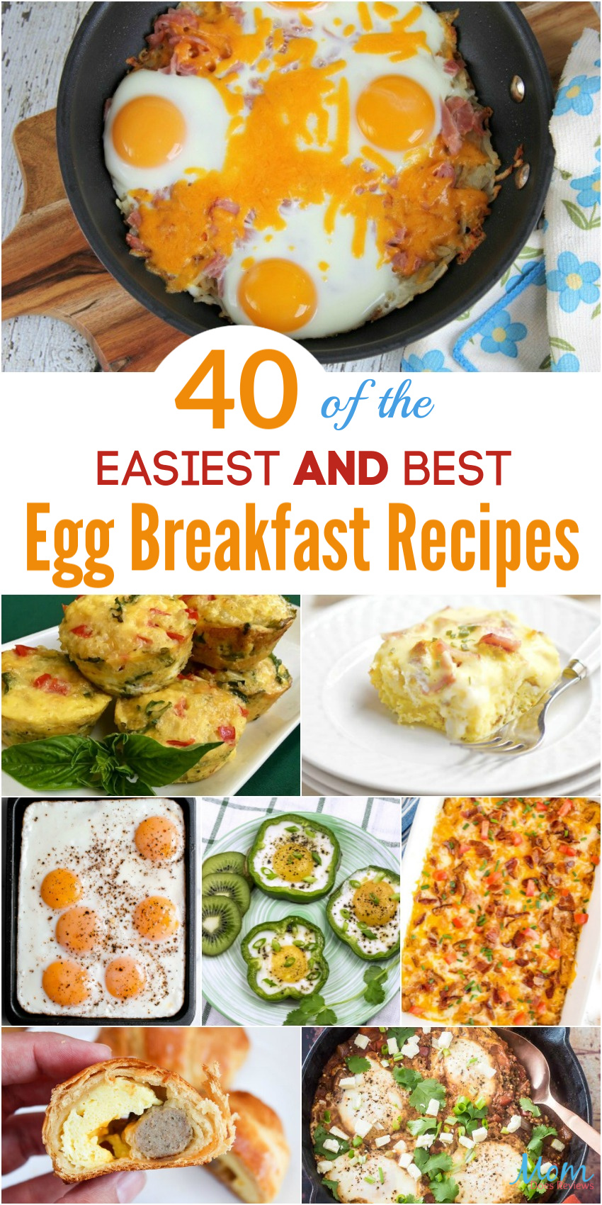 40 of the Easiest AND Best Egg Breakfast Recipes Around #breakfast #easymeals #recipes