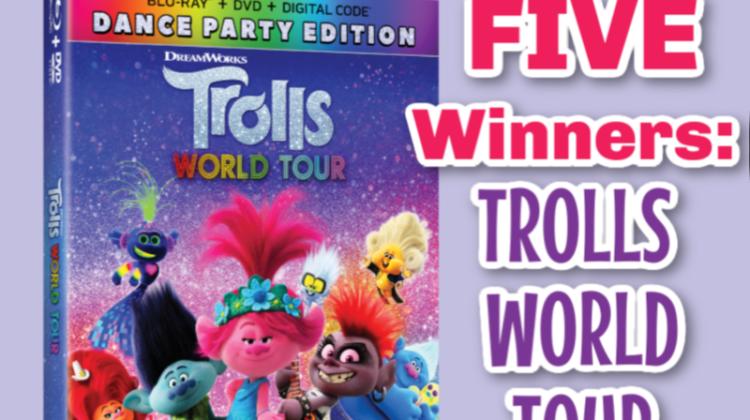 5 #Winners- TROLLS WORLD TOUR on Blu-ray! US/CAN ends 7/20 #TrollsWorldTour