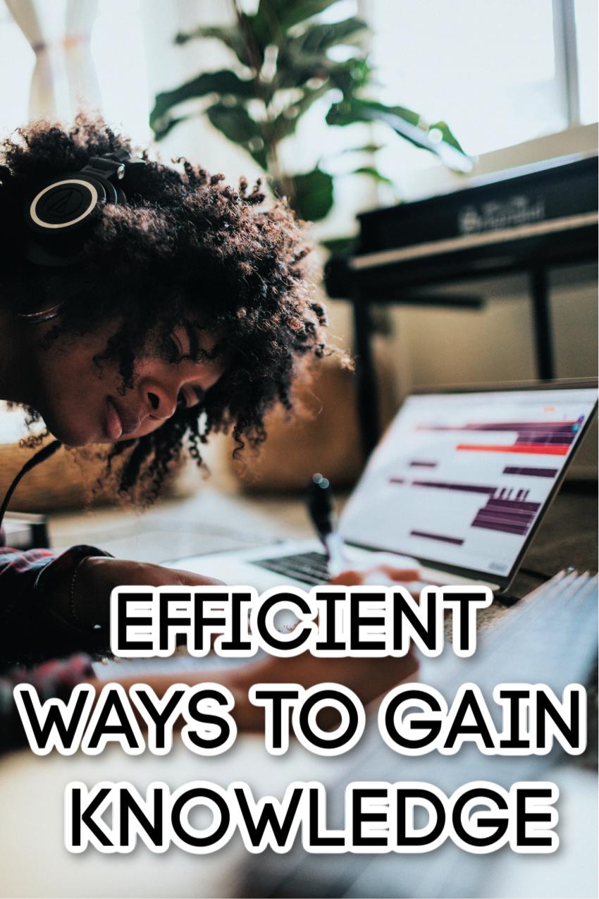 Focusing on Studies: Efficient Ways to Gain Knowledge