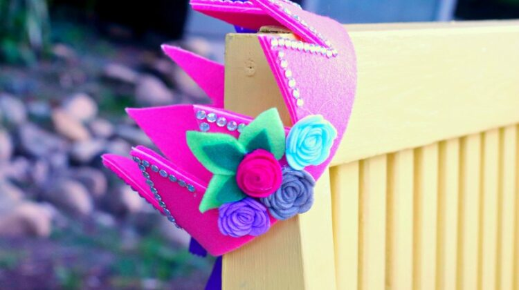Super Cute & Easy Felt Fairy Crown Craft