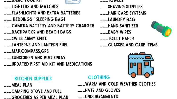 Printable RV & Camping Packing List! #freeprintable #checklist #camping #travel