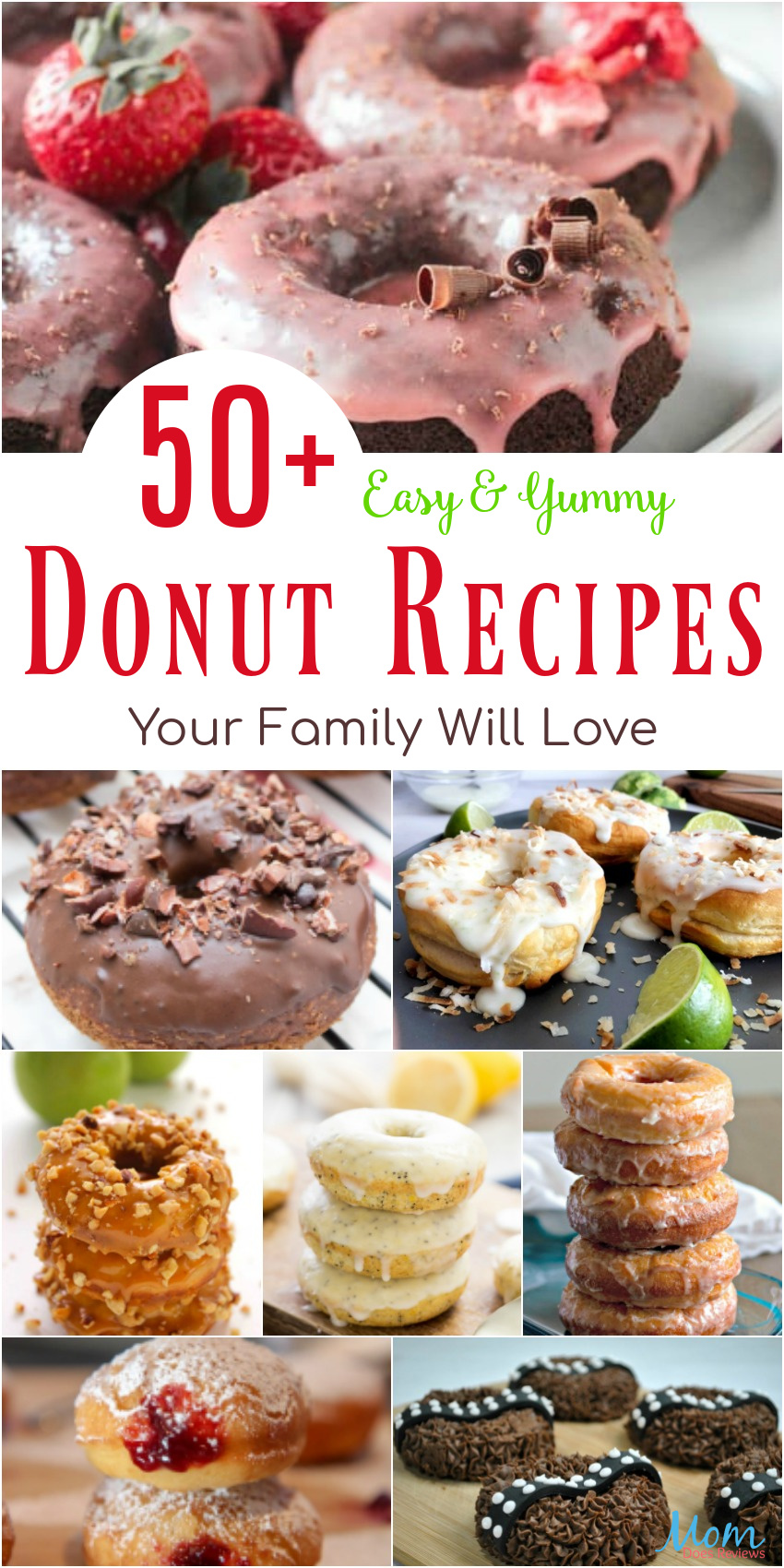 50+ Easy & Yummy Donut Recipes Your Family Will Love #recipes #foodie #donuts #breakfast #sweets
