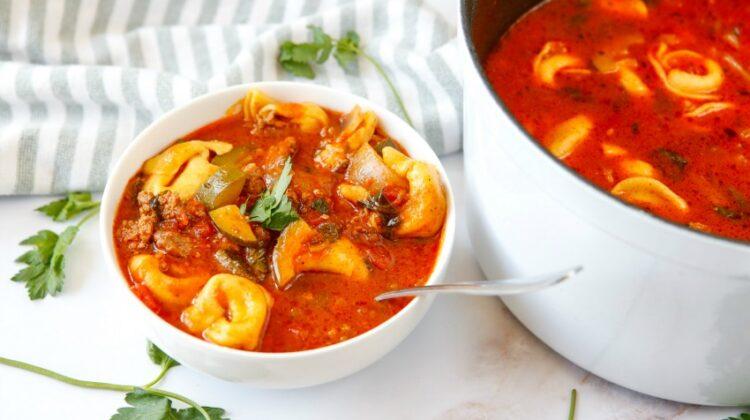 Hearty Italian Tortellini Beef Soup Recipe