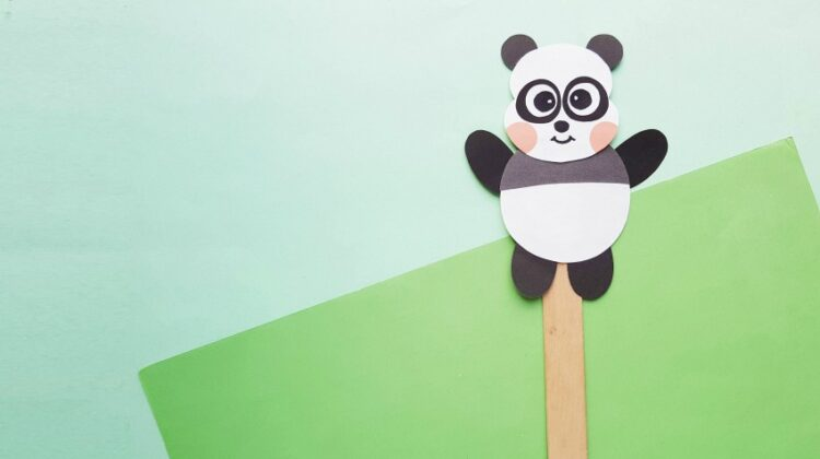 Panda Paper Puppet Craft for Kids