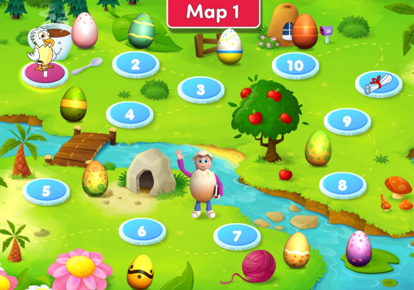 Reading Eggs Learning Map
