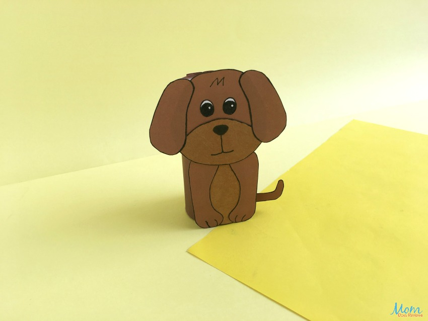 Toilet Paper Roll Dog Craft   A Fun Craft for Kids