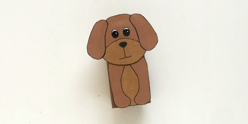 Toilet Paper Roll Dog Craft process
