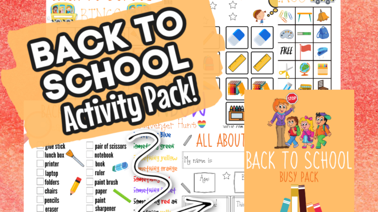 Back to School Activity Pack! Free #Printables!