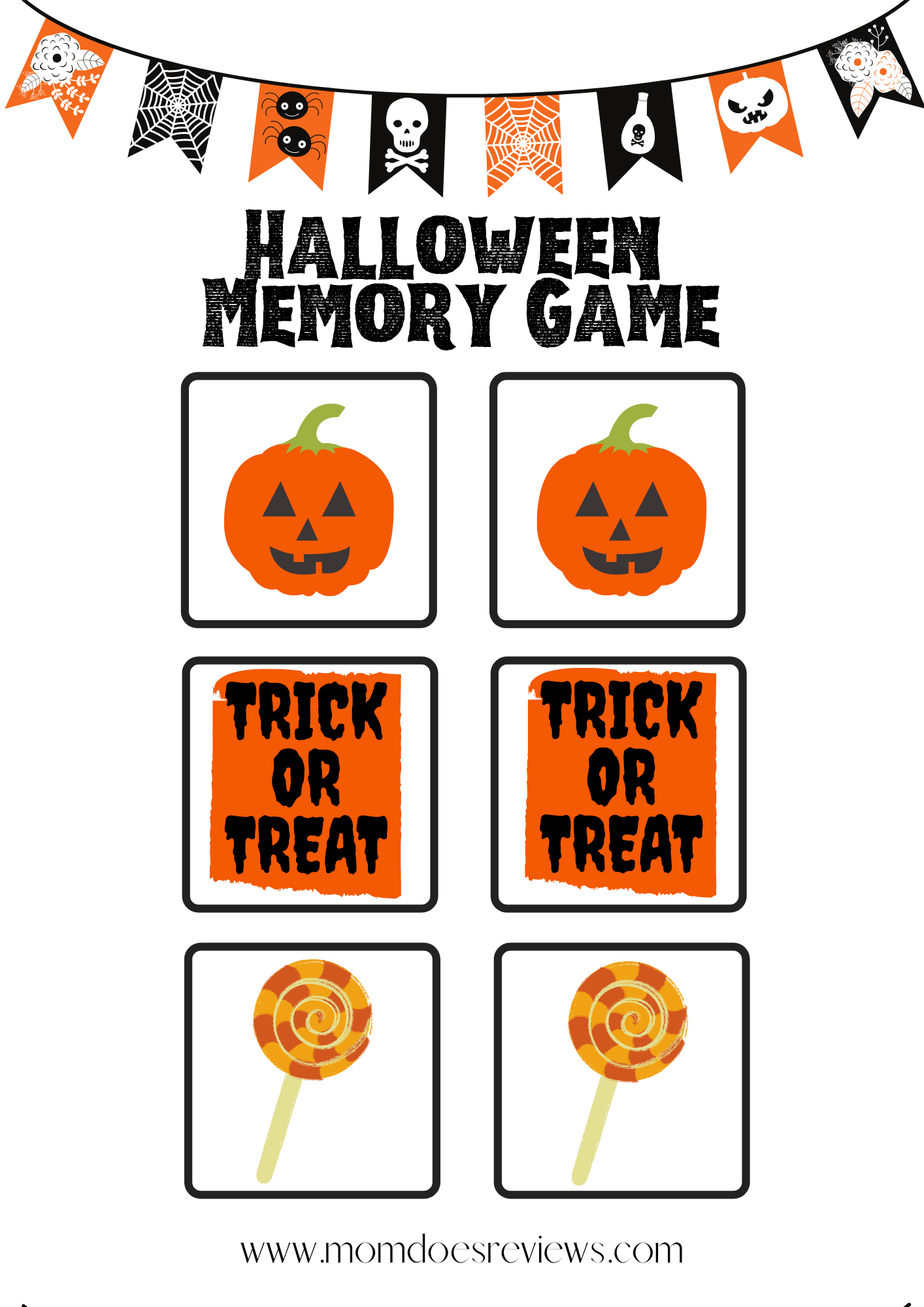 Fun Halloween Games for kids- Free Printables