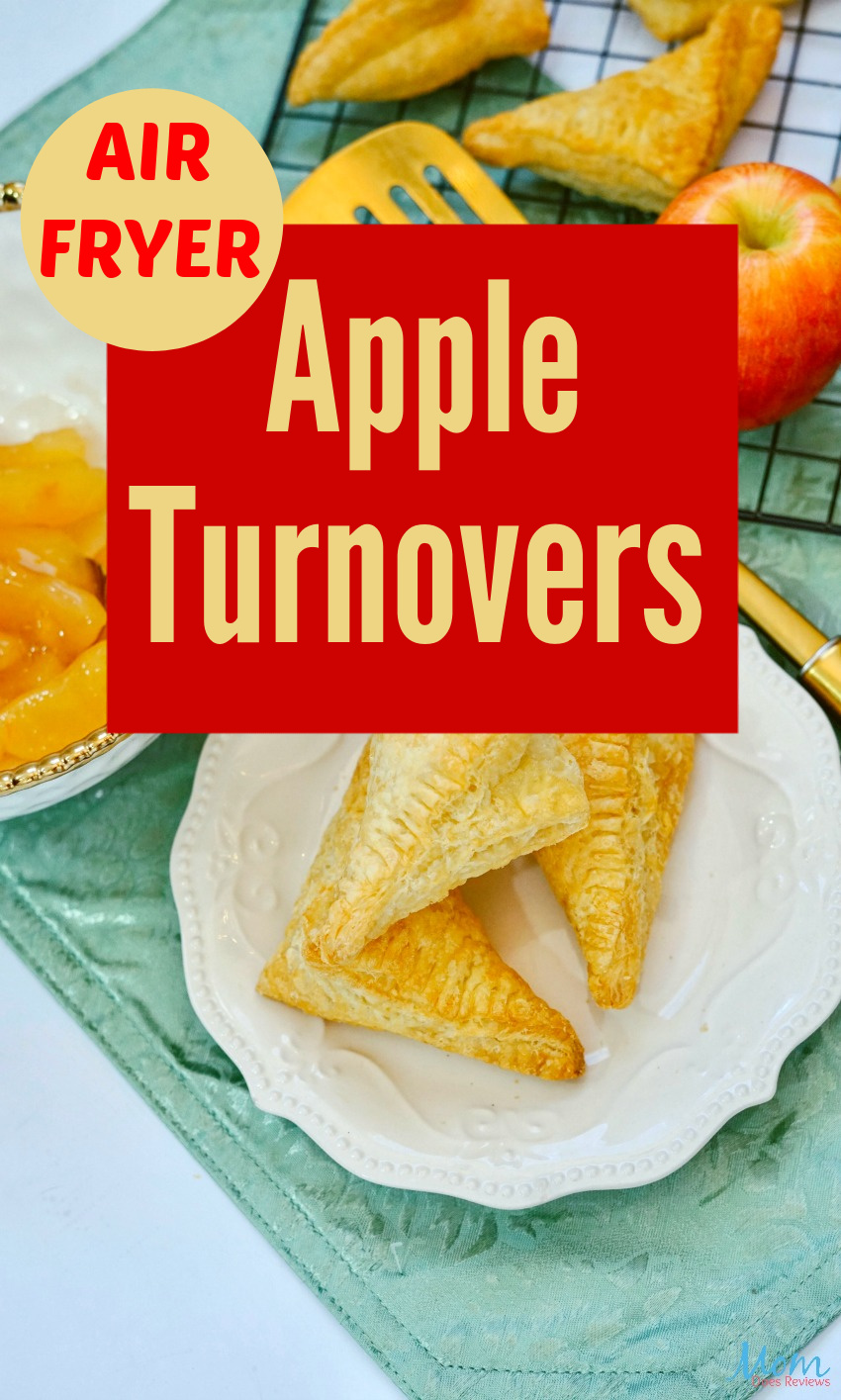 Air Fryer Apple Turnovers Recipe #desserts #sweets #applerecipes