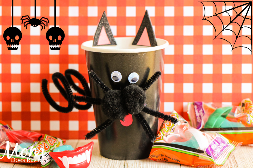 Black Cat Cup Craft #Halloween #easycraft #DIY