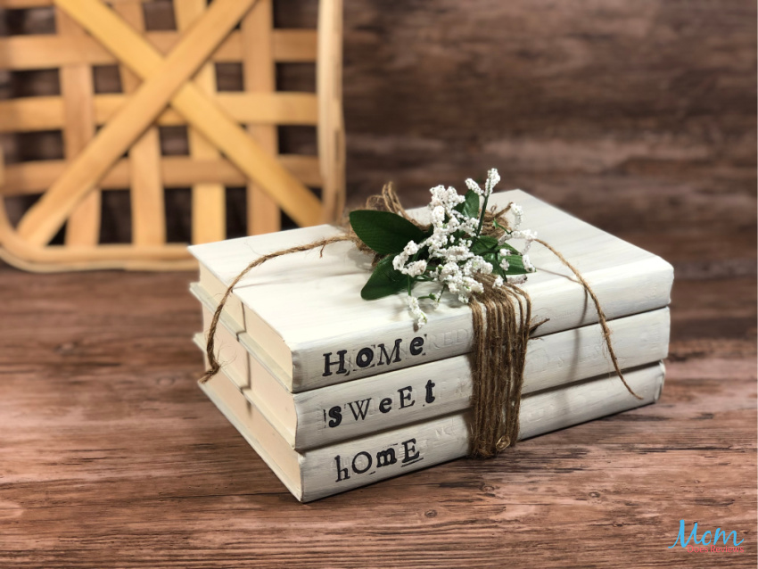Dollar Store Home Sweet Home Book Stack Craft